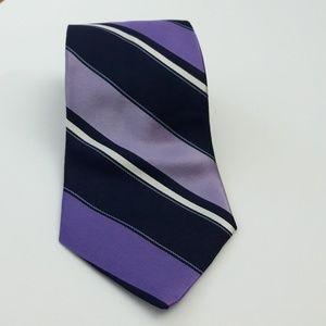 Nautica Men's Tie 100% Silk Purple/Multi-color